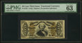 Fractional Currency:Third Issue, Fr. 1335 50¢ Third Issue Spinner PMG Choice Uncirculated 63 EPQ.. ...