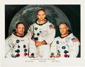 Explorers:Space Exploration, Apollo 11 Crew-Signed and Uninscribed Large White Spacesuit Color Photo, Obtained In-Person by Anthony J. Cipriano, Author or ...