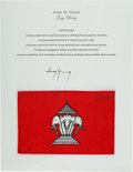 Explorers:Space Exploration, Gemini 10 Flown Flag of Laos Directly from the John W. Young Collection, with Letter of Certification. ...