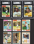 Baseball Cards:Sets, 1974 Topps Baseball Complete Set (660) With Traded Set (44). ...