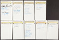 Autographs:Others, Baseball Signed Sheets Collection (14)....