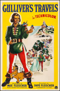 "Movie Posters:Animation, Gulliver's Travels (Paramount, 1939). Good on Linen. One Sheet (27"" X 41""). Animation.. ..."