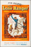 "Movie Posters:Western, The Lone Ranger (Warner Brothers, 1956). Fine/Very Fine on Linen. One Sheet (27"" X 41""). Western.. ..."