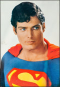 "Movie Posters:Action, Christopher Reeve as Superman (DC Comics, 1980). Rolled, Fine/Very Fine. Personality Poster (39"" X 26.75""). Action.. ..."