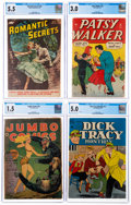 Golden Age (1938-1955):Miscellaneous, Comic Books - Assorted Golden Age CGC-Graded Comics Group of 4 (Various Publishers, 1943-52).... (Total: 4 )
