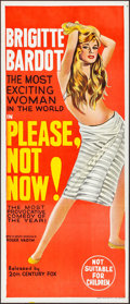 """Movie Posters:Foreign, Please, Not Now! (20th Century Fox, 1963). Folded, Very Fine+. Australian Daybill (13"""" X 30""""). Foreign.. ..."""
