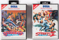 Video Games:Sega, Streets of Rage Sega Master System Group of 2 (Sega, 1993, PAL)....