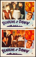 "Movie Posters:Film Noir, Deadline at Dawn (RKO, 1946). Fine+. Lobby Cards (2) (11"" X 14""). Film Noir.. ... (Total: 2 Items)"