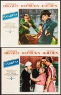 "Movie Posters:Romance, Sabrina (Paramount, 1954). Overall: Fine- on Paper. Paper Backed Lobby Card & Lobby Card (11"" X 14""). Romance.. ... (Total: 2 Items)"