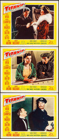 "Movie Posters:Drama, Titanic (20th Century Fox, 1953). Very Fine. Lobby Cards (3) (11"" X 14""). Drama.. ... (Total: 3 Items)"
