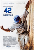 "Movie Posters:Sports, 42 & Other Lot (Warner Brothers, 2013). Rolled, Overall: Very Fine-. One Sheets (2) (27"" X 40"") DS, Advance. Sports.. ... (Total: 2 Items)"