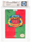 Video Games:Nintendo, Attack of the Killer Tomatoes Wata 7.0 B+ Sealed NES, THQ, 1992, USA....