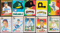 Autographs:Bats, Signed Baseball HoFers Cards & Stickers Collection (10). ...
