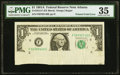 Error Notes:Foldovers, Printed Foldover Error Fr. 1912-F $1 1981A Federal Reserve Note. PMG Choice Very Fine 35.. ...