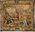 Textiles, A Flemish Bruges Brabant Wool Tapestry: Historia Iacob et Ioesep et Pharaonis. (Jacob Interpreting the Pharaoh's D...