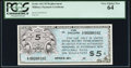 Military Payment Certificates:Series 461, Series 461 $5 Replacement PCGS Very Choice New 64.. ...