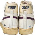 "Basketball Collectibles:Others, 1983-84 Michael Cooper (Los Angeles Lakers ) Game Worn & Signed ""Player Exclusive"" Sneakers...."