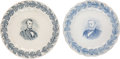Antiques:Decorative Americana, Abraham Lincoln and Ulysses S. Grant: Wedgwood Plates.. ... (Total: 2 Items)