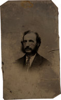 Photography:Tintypes, [Lincoln Assassination]: Tintype of Ford's Theatre Ticket-Taker Joseph Sessford. ...