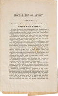 Political:Small Paper (pre-1896), Abraham Lincoln: In-the-Field Proclamation of Amnesty for the Use of the Military....