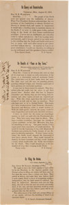 Political:Posters & Broadsides (1896-present), [Abraham Lincoln]: 1864 Re-Election Broadside with Quotes by Ulysses S. Grant....