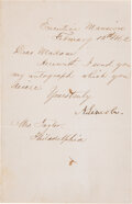 Autographs:U.S. Presidents, Abraham Lincoln: Very Fine Letter Signed [LS] as President....