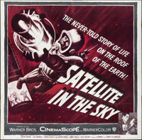 """Satellite in the Sky (Warner Brothers, 1956). Folded, Very Fine-. Six Sheet (80.25"""" X 79""""). Science Fiction..."""
