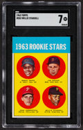 Baseball Cards:Singles (1960-1969), 1963 Topps Willie Stargell - 1963 Rookie Stars #553 SGC NM 7....