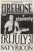 Music Memorabilia:Original Art, Firehose/Slovenly Satyricon Concert Poster Mock-Up/Original Art (1987).. ...