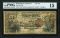 National Bank Notes:Delaware, Wilmington, DE - $50 1882 Brown Back Fr. 507 The First National Bank Ch. # 473 PMG Choice Fine 15.. ...