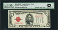 Fr. 1530 $5 1928E Legal Tender Note. PMG Choice Uncirculated 63