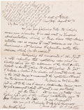 Autographs:Military Figures, Union General Fitz-John Porter: Handwritten Letter Exchange with General Horatio King Concerning the Surrender of Fort Sumter....