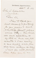 Autographs:Military Figures, General George G. Meade: Autograph Letter signed (ALS). . ...