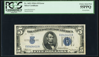 Fr. 1651 $5 1934A Silver Certificate. PCGS Choice About New 55PPQ
