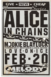 Alice in Chains/Mookie Blaylock Melody Ballroom Concert Poster (1991)