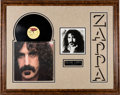 Music Memorabilia:Memorabilia, Frank Zappa Framed apostrophe (') LP And Jacket And Signed Picture. . ...