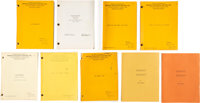 Paul Vogel Assorted Collection of Scripts and Shooting Schedules (circa early 1960s)