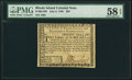 Rhode Island July 2, 1780 $20 PMG Choice About Unc 58 EPQ