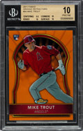Baseball Cards:Singles (1970-Now), 2011 Topps Finest Mike Trout Orange Refractor Rookie #94 BGS Pristine 10 - Numbered 78/99!...