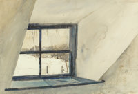 Andrew Wyeth (American, 1917-2009) Cold Spell, 1965 Watercolor on paper 19 x 28 inches (48.3 x 71