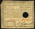 Colonial Notes:Massachusetts, Massachusetts May 5, 1780 $3 Fine, HOC.. ...