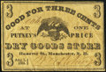 Obsoletes By State:New Hampshire, Manchester, NH- Putney's One Price Dry Goods Store 3¢ Aug. 1, 1864 Fine-Very Fine.. ...