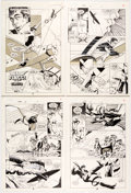 Original Comic Art:Complete Story, Mark Badger, Norm Breyfogle, and Others American Flagg! #35 Complete Stories Original Art and Hand-Tinted Color Gu... (Total: 56 Original Art)
