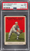 Baseball Cards:Singles (Pre-1930), 1915 Cracker Jack Ira Thomas #34 PSA NM-MT 8 - Only One Higher....