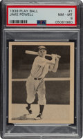 Baseball Cards:Singles (1930-1939), 1939 Play Ball Jake Powell #1 PSA NM-MT 8 - Only Two Higher. ...