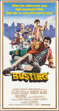 "Busting (United Artists, 1974). Folded, Very Fine+. International Three Sheet (41"" X 77""). Mort Kunstler Artwo..."