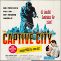 """Movie Posters:Crime, The Captive City (United Artists, 1952). Folded, Very Fine-. Six Sheet (80"""" X 79""""). Crime.. ..."""
