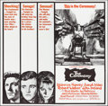 "Movie Posters:Crime, The Ceremony (United Artists, 1964). Folded, Very Fine-. Six Sheet (80"" X 79""). Crime.. ..."
