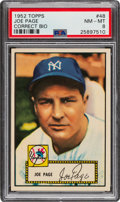 Baseball Cards:Singles (1950-1959), 1952 Topps Joe Page (Correct Bio-Red) #48 PSA NM-MT 8. ...