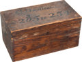 Photography:CDVs, Civil War: Glass Plate Negatives in the Original Wooden Storage Box.. ...